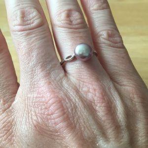 Genuine Sterling Silver Pearl Ring
